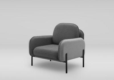 Fotel CORBU_skos_QUEENS33_30_nozki czarne