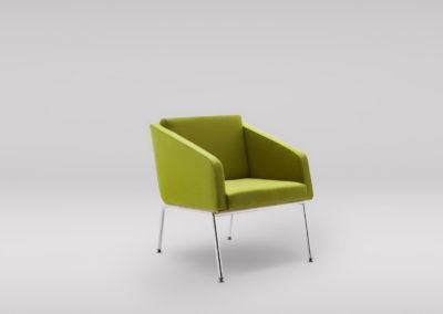 Fotel FIN z podłokietnikami_podstawa_metalowa_skos