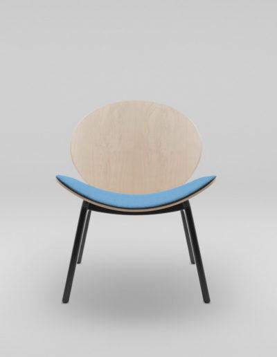 Fotel KANU 1 brzoza_tapicerowane siedzisko W632