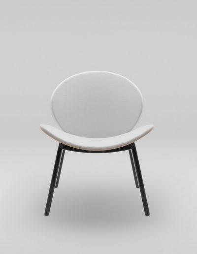 Fotel KANU 1 brzoza_tapicerowane siedzisko i opaarcie W02 P