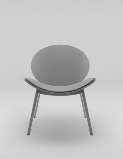 Fotel KANU 1 szary_tapicerowane siedzisko i oparcie W417