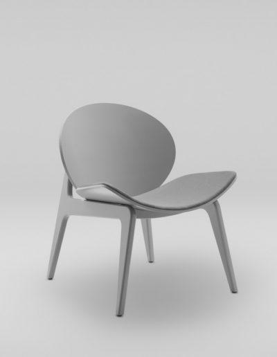 Fotel KANU 1 szary_tapicerowane siedzisko i oparcie W417_skos