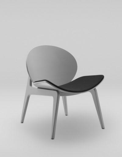 Fotel KANU 1_szary tapicerowane siedzisko S10_skos