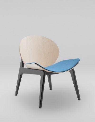 Fotel KANU 1_tapicerowane siedziesko W632_skos