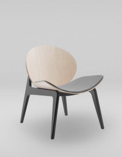 Fotel KANU 1_tapicerowane siedzisko W417_skos