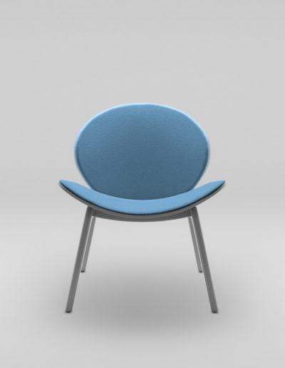 Fotel KANU 1_tapicerowane siedzisko i oparcie W632