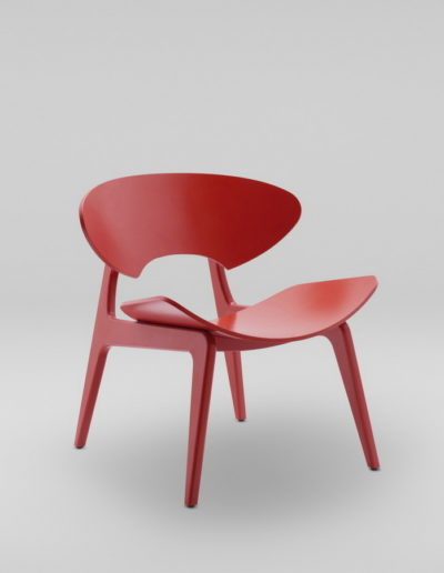 Fotel KANU 2 czerwony_skos