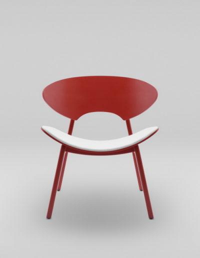 Fotel KANU 2 czerwony_tapicerowane siedzisko W02 P