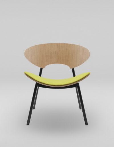 Fotel KANU 2 dab_tapicerowane siedzisko W103