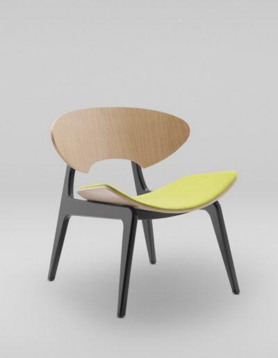 Fotel KANU 2 dab_tapicerowane siedzisko W103_skos
