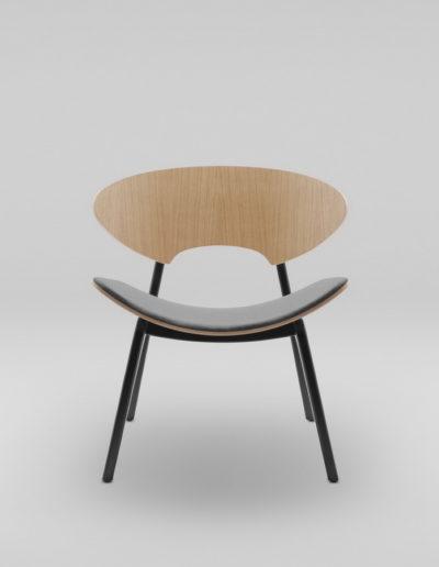 Fotel KANU 2 dab_tapicerowane siedzisko W417