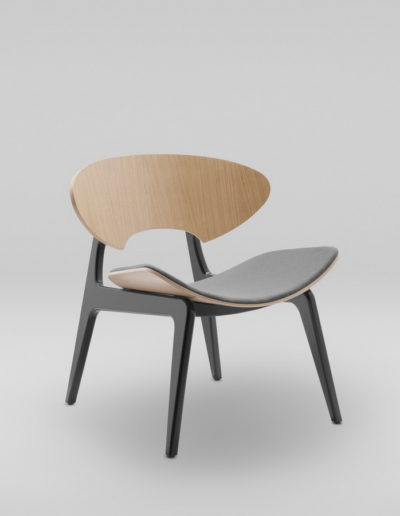 Fotel KANU 2 dab_tapicerowane siedzisko W417_skos