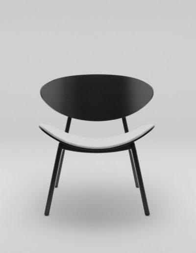Fotel KANU 3 czarny_tapicerowane siedzisko W02 P