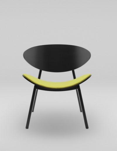 Fotel KANU 3 czarny_tapicerowane siedzisko W103