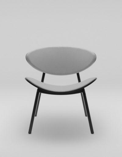 Fotel KANU 3 czarny_tapicerowane siedzisko i oparcie W02 P