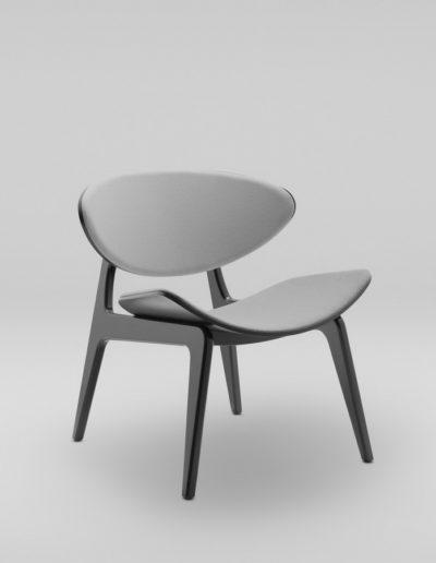 Fotel KANU 3 czarny_tapicerowane siedzisko i oparcie W02 P_skos