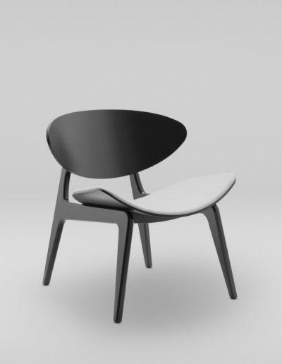 Fotel KANU 3 czarny_tapicewrowane siedzisko W02 P_skos