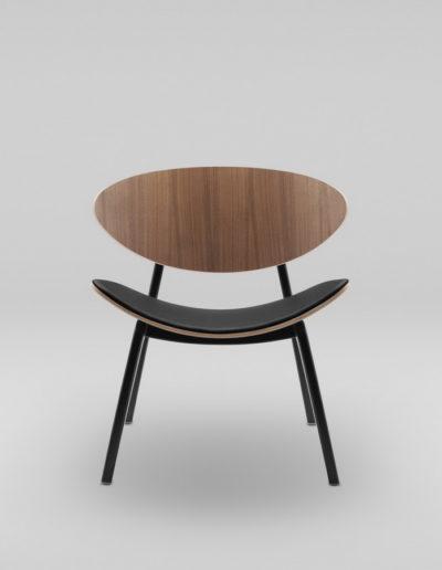Fotel KANU 3 orzech_tapicerowane siedzisko S10