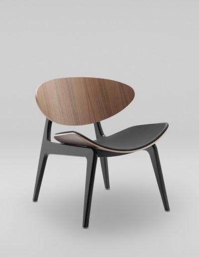 Fotel KANU 3 orzech_tapicerowane siedzisko S10_skos