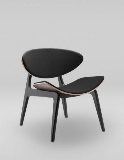 Fotel KANU 3 orzech_tapicerowane siedzisko + oparcie S10_skos