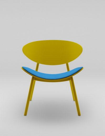 Fotel KANU 3 zolty_tapicerowane siedzisko W632