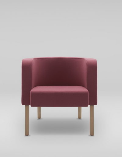 Fotel NEON M_nogi drewniane