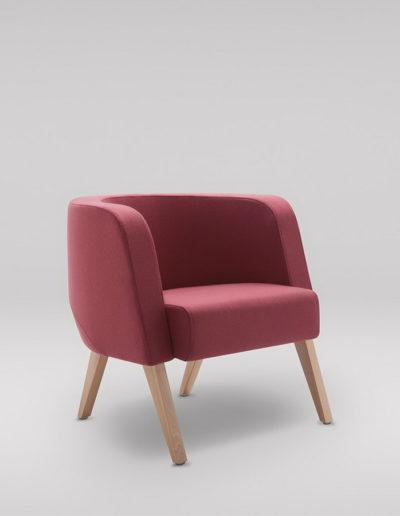 Fotel NEON M_nogi drewniane_skos