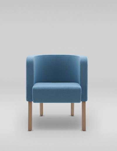 Fotel NEON S_nogi drewniane