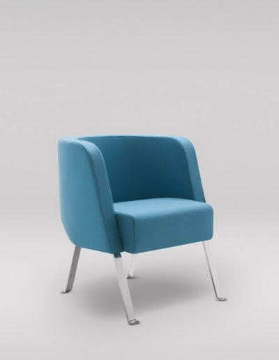 Fotel NEON S_nogi metalowe_skos