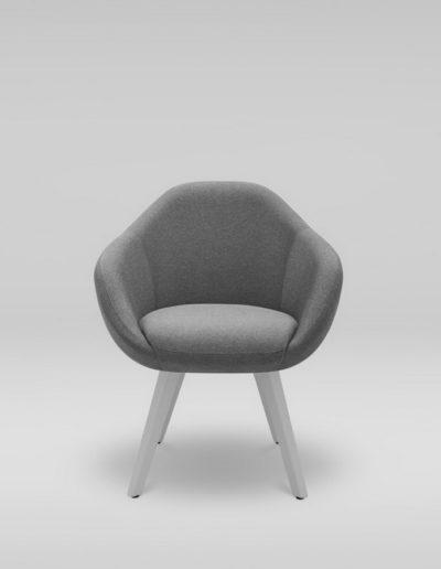 Fotel TULO 4N_L32, szare