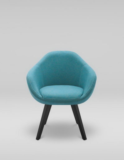 Fotel TULO 4N_MLF37, czarne