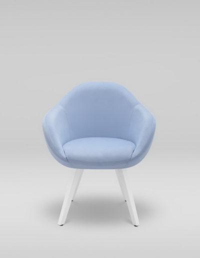 Fotel TULO 4N_TK101, białe