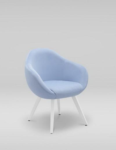Fotel TULO 4N_skos_TK101, białe