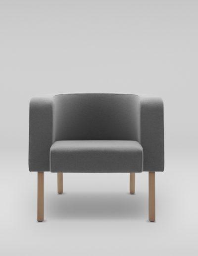 Fotel NEON L_nogi drewniane