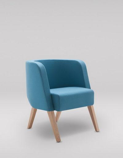 Fotel NEON S_nogi drewniane_skos