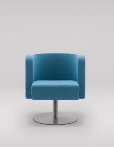 Fotel NEON S_podstawa płaska obrotowa
