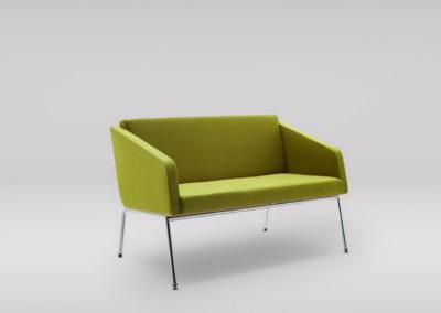 Sofa FIN 2 z podłokietnikami_podstawa metalowa_skos