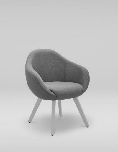 Fotel TULO 4N_skos_L32, szare