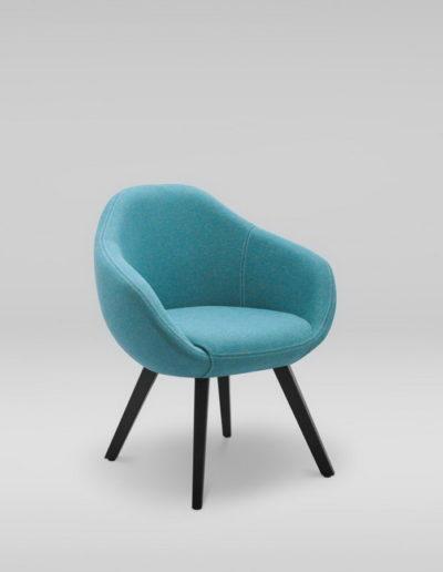 Fotel TULO 4N_skos_MLF37, czarne